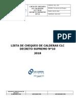 Lista de Chequeo Calderas Clc 2018