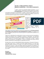 Boletín de Prensa - Feria Étnica 2019
