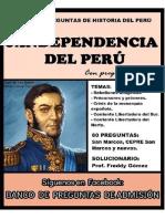 BANCO DE PREGUNTAS SOBRE LA INDEPENDENCIA DEL PERU 2019-convertido.docx