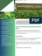 AVALIAÇÃO DA EFICIÊNCIA DE FUNGICIDAS MULTI SÍTIOS SEQUENCIAIS PARA O CONTROLE DE DOENÇAS NA CULTURA DA SOJA EM LUCAS DO RIO VERDE, MT  .pdf