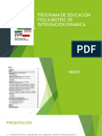 Programa de Educación Física Motriz de Integración Dinámica (Historia)Resumen