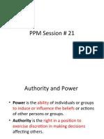 PPM Session Revision End Term