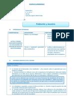 SESIÓN DE APRENDIZAJE N° 02 5° muestra y poblacion.docx