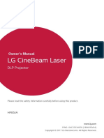 LG Cinemabeam Owners Manual
