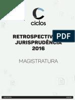 Retrospectiva de Jurisprudência 2016 - MAGIS