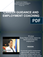 New Career Guidance and Advocacy Program