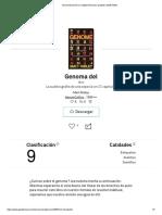 Genome(Versión en Inglés) Resumen Gratuito _ Matt Ridley