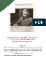 Distribuciones Unidimensionales Caso Discreto Continuo Clase 3