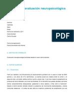 Datos Para La Elaboración Del Informe Trabajo Final