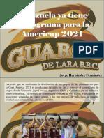 Jorge Hernández Fernández - Venezuela Ya Tiene Cronograma Para La Americup 2021