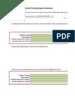 Industry Supervisor LI Evaluation Form