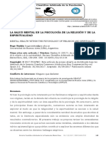 Art. LA SALUD MENTAL EN LA PSICOLOGÍA DE LA RELIGIÓN Y DE LA ESPIRITUALIDA.pdf