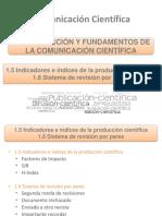 1.5 Indicadores e índices de la producción científica
