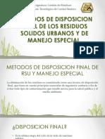Metodos de Disposicion Final de Los Residuos Solidosme