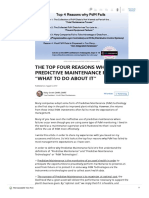 """THE TOP FOUR REASONS WHY PREDICTIVE MAINTENANCE FAILS AND """"WHAT TO DO ABOUT IT"""""""