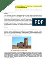 Article-Archeoastronomy-Preliminary Hypothesis About the Archeostronomics Characteristics of La Vera Cruz Church in Segovia