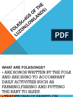 Folksongs of the Luzon(Lowlands) First Quarter