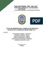 Plan de Minimización y Manejo de Rr.ss. 2019 - Medifarma
