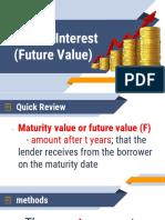 Simple Interest (Future Value)