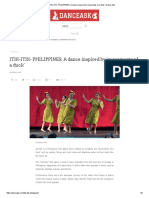 ITIK-ITIK- PHILIPPINES_ a Dance Inspired by 'Movements of a Duck' _ Dance Ask