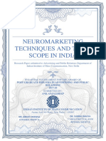 Neuromarketing techniques and their scope in India