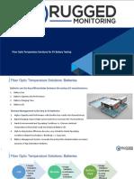 Fiber Optic Temperature Sensor for EV Battery Testing