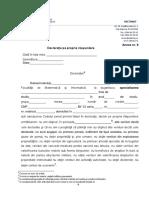 Anexa 8 Declaratie Pe Propria Raspundere Burse 2018 UBB