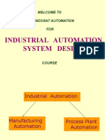 1_Industrial Automation System Design Introduction