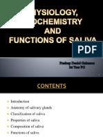 Physiology, Biochemistry & Functions of Saliva