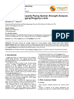 A Fixed Platform Topside Piping System Strength Analysis Under Dynamic PiggingSlugging Loads