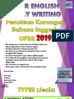 2019 UPSR English Essay Writing