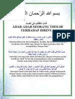 Adab-adab Seorang Tholib terhadap Dirinya - Abu Hamzah Yusuf Al Atsary.pdf