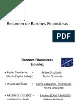 Resumen de Razones Financieras