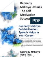 Kennedy Nhliziyo Defines the Self-Motivation Success Story