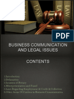 Legal Aspects of Communication