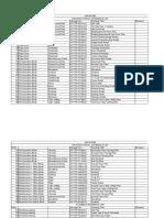 PRU01 Drawing List