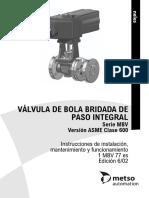 Valvula de Bola Bridada de Paso Integral