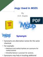 MSDS Terminologies