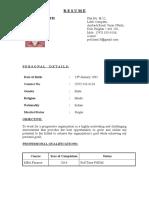 1561999222258_CV of Pritesh Kamath as Per New Format