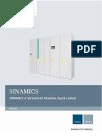 SINAMICS S120 Cabinet Modules Liquid Cooled en-US