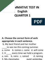3rd Summative Test in English Q1