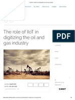 How IIoT Solution is Changing the Oil and Gas Industry