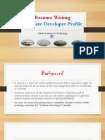 Resume Writing Software Developer Profile