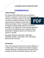 Gandhi the Mahatma and his probation years in India.docx