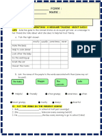 Present Simple Adverbs 4 Page Test Tests 94753