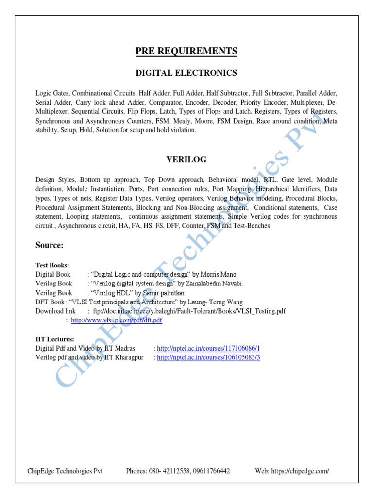 Pre Req For Digital And Verilog 1 Filename Digital Electronics