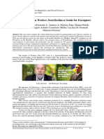 Lula's PT Brazilian Workers PartyDecline:a Guide for Foreigners