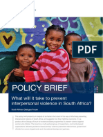 What Will it Take to Prevent Interpersonal Violence in South Africa? (2019)