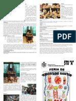 todos santos en boliva, investigacion hecha por estudiantes de colquiri