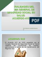 General Ida Des Del Sistema General de Seguridad Social en Salud